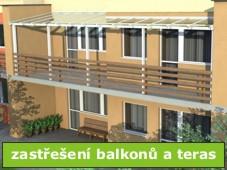 Zastřešení teras a balkonů