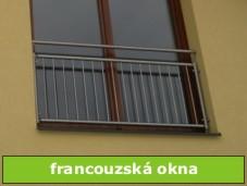 zábradlí na                 francouzská okna