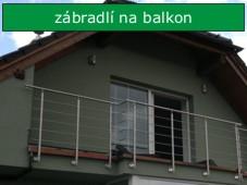 Nerezové zábradlí na balkon a terasu
