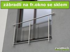 zábradlí na fr.okno se sklem