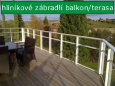 Alu zábradlí na balkon a terasu
