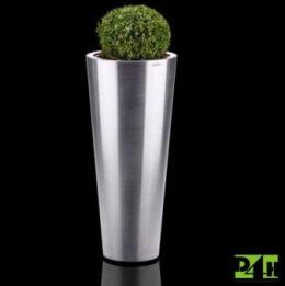 Nerezový květináč průměr 40cm, výška 90cm