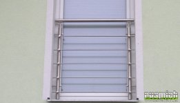 zábradlí do fr okna mezi špalety, vodorovná výplň