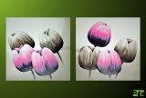 Obrazy květin, moderní dvoudílný malovaný obraz