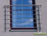Nerezové zábradlí na francouzské okno 1200mm na fasádu (montáž možná i skrz zateplení)