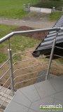 Nerezové zábradlí na balkon