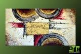 Obraz na plátně 140x75 ručně malovaný moderní motiv