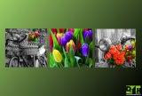 Obraz na plátně 150x50cm, moderní obraz s motivem, květiny, fototisk