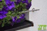 Držák truhlíku na venkovním parapetu, nerezová zábrana, 2500mm