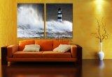 Obraz dvoudílný - maják, moře